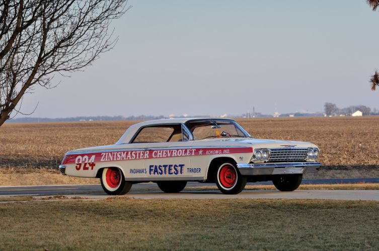 1962 Chevrolet Impala Lightweight NASCAR Race Car Racecar Muscle USA 4200x2790-01 wallpaper