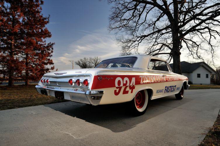 1962 Chevrolet Impala Lightweight NASCAR Race Car Racecar Muscle USA 4200x2790-03 wallpaper