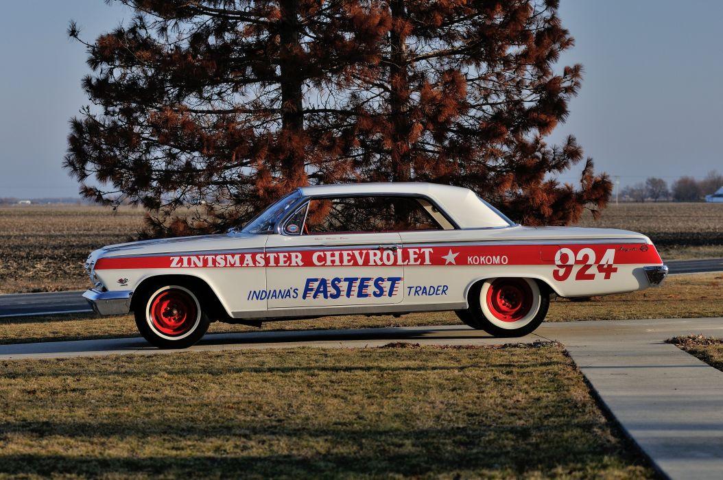 1962 Chevrolet Impala Lightweight NASCAR Race Car Racecar Muscle USA 4200x2790-06 wallpaper