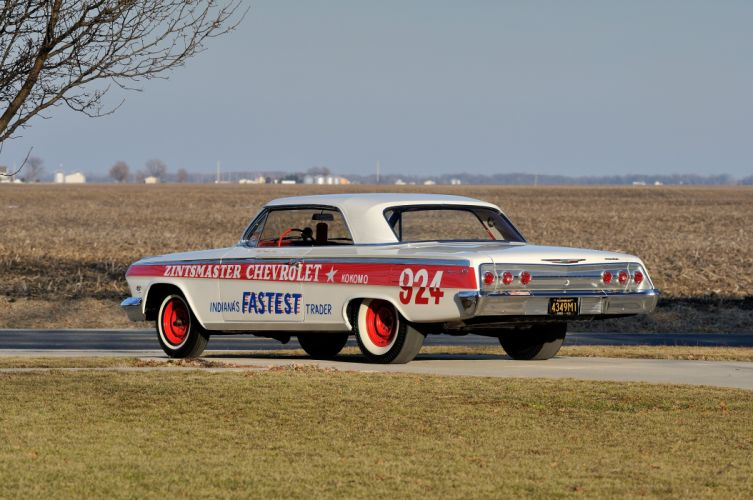 1962 Chevrolet Impala Lightweight NASCAR Race Car Racecar Muscle USA 4200x2790-08 wallpaper