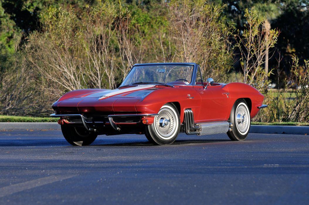 1963 Chevrolet Corvette Convertible Knudsen Muscle Classic USA 4200x2790-01 wallpaper