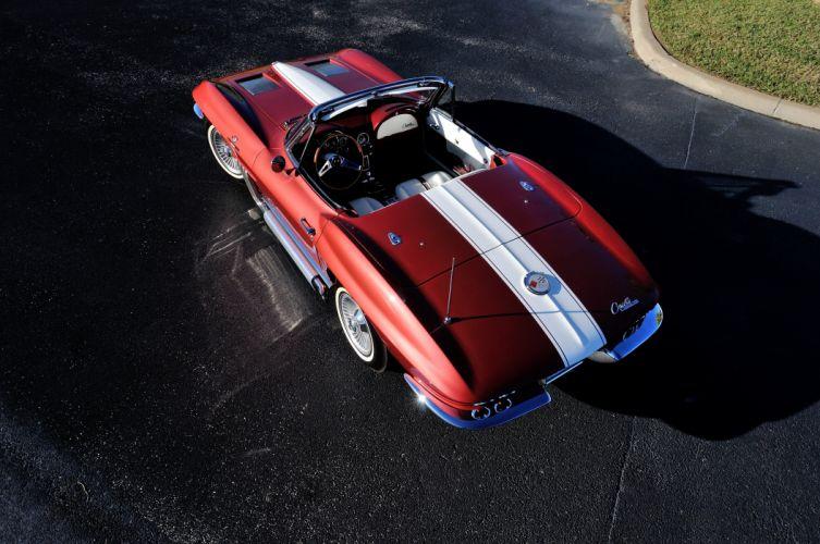 1963 Chevrolet Corvette Convertible Knudsen Muscle Classic USA 4200x2790-04 wallpaper