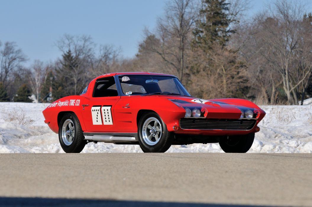 1963 Chevrolet Corvette Race Car Muscle USA 4200x2790-01 wallpaper