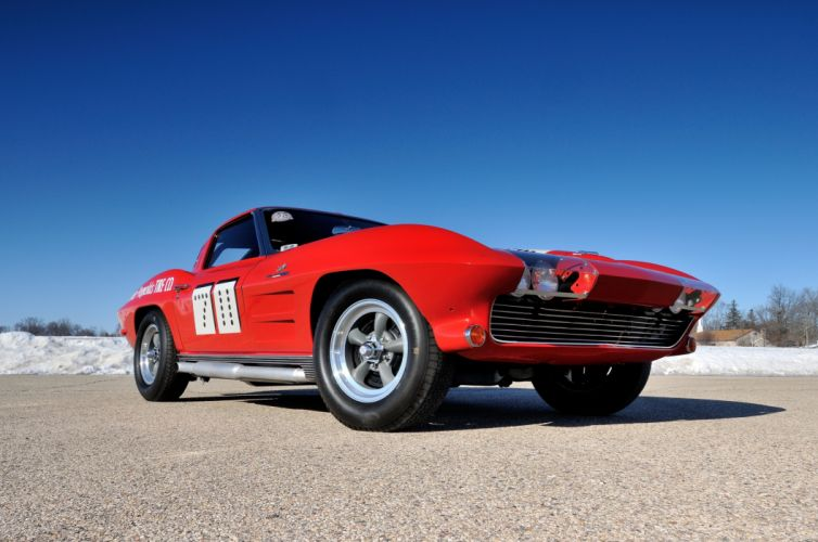 1963 Chevrolet Corvette Race Car Muscle USA 4200x2790-04 wallpaper