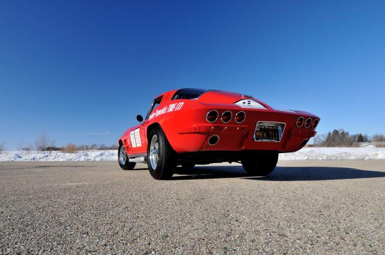1963 Chevrolet Corvette Race Car Muscle USA 4200x2790-07 wallpaper