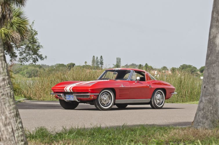 1963 Chevrolet Corvette Sting Ray Z06 Muscle Classic USA 4200x2780-06 wallpaper