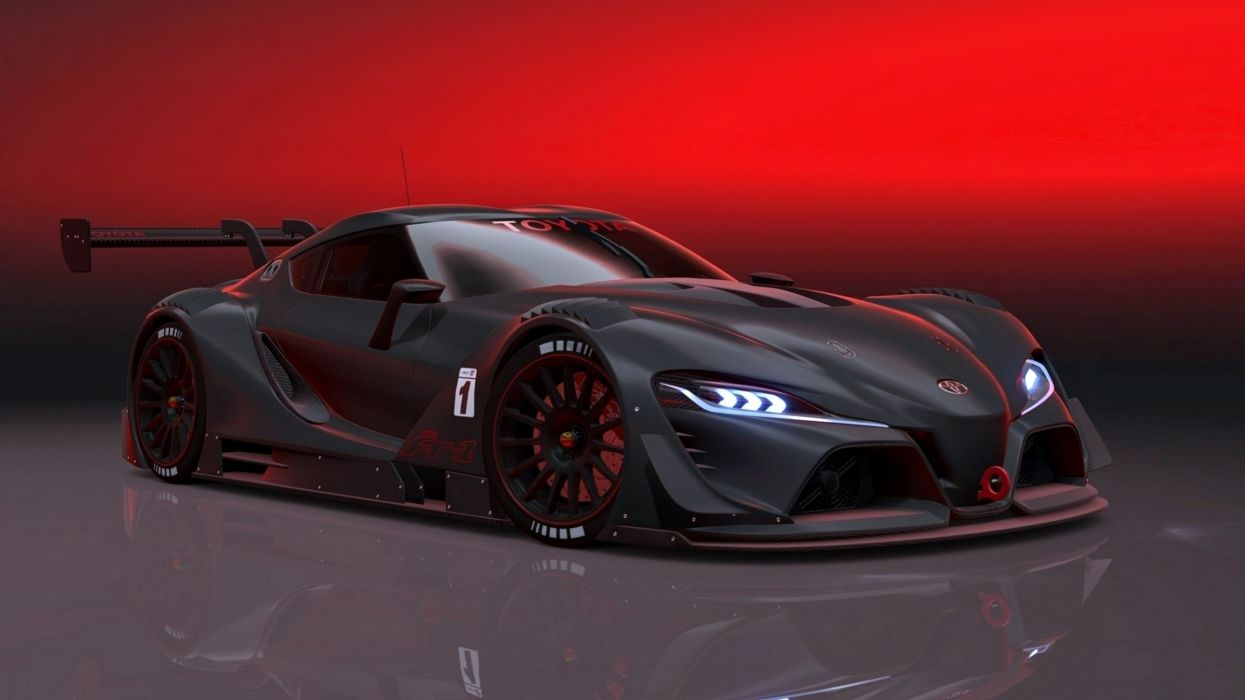toyota ft-1 race speed motors supercars cars black wallpaper