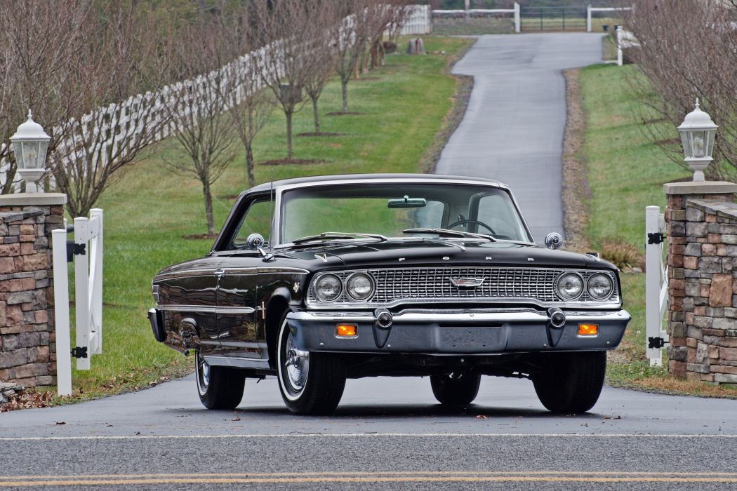 1963 Ford Galaxie 500 Coupe Muscle Classic USA 4200x2800-01 wallpaper