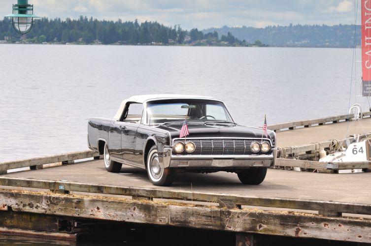 1963 Lincoln Continental Convertible Classic USA 4200x2790-01 wallpaper
