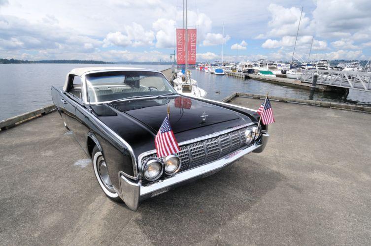 1963 Lincoln Continental Convertible Classic USA 4200x2790-04 wallpaper