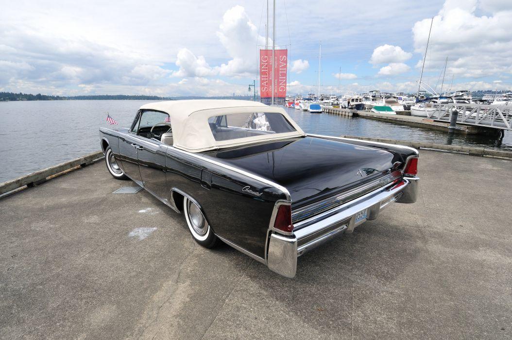1963 Lincoln Continental Convertible Classic USA 4200x2790-05 wallpaper