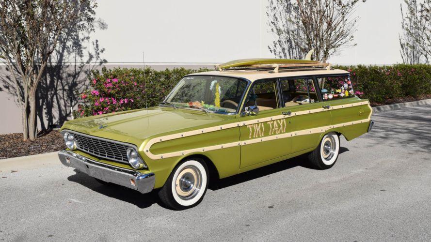 1964 Ford Falcon Sation Wagon Custom Classic USA 4800x2700-01 wallpaper