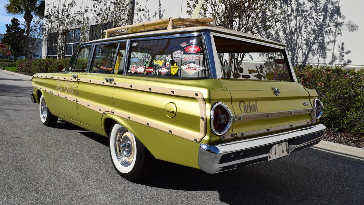 1964 Ford Falcon Sation Wagon Custom Classic USA 4800x2700-04 wallpaper