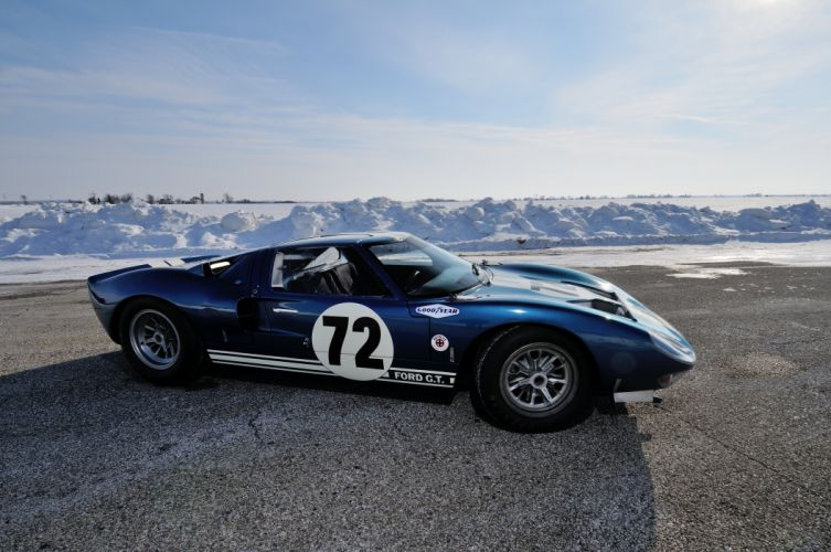 1964 Ford GT40 Race Supercar Classic USA 4200x2790-05 wallpaper