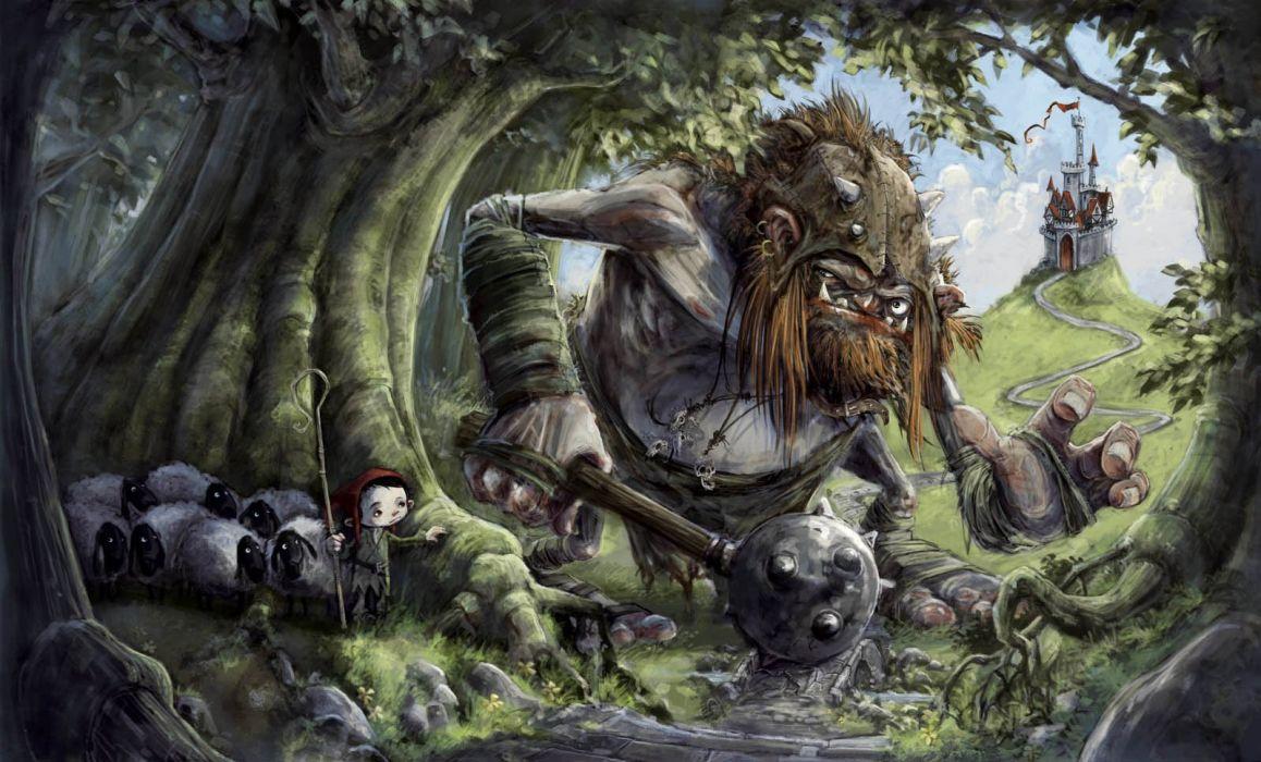 trolls bosque fantasy niA wallpaper