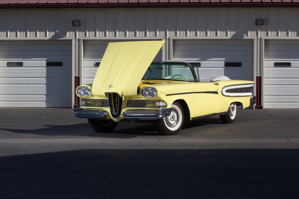 1958 Edsel Citation Convertible Classic USA 5184x3456-06 wallpaper