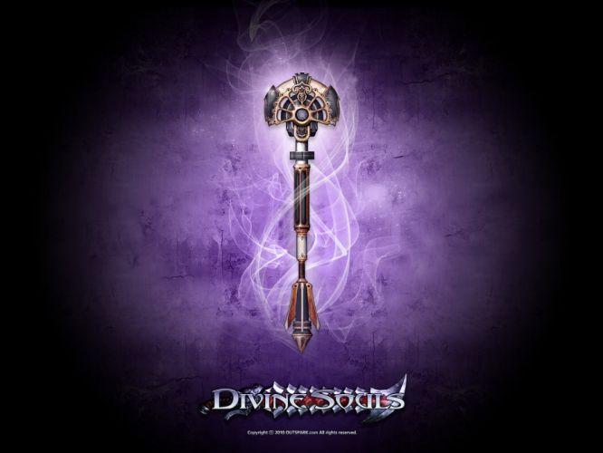 DIVINE SOULS fantasy mmo rpg fighting action dungeon crawler 1dsouls adventure warrior wallpaper