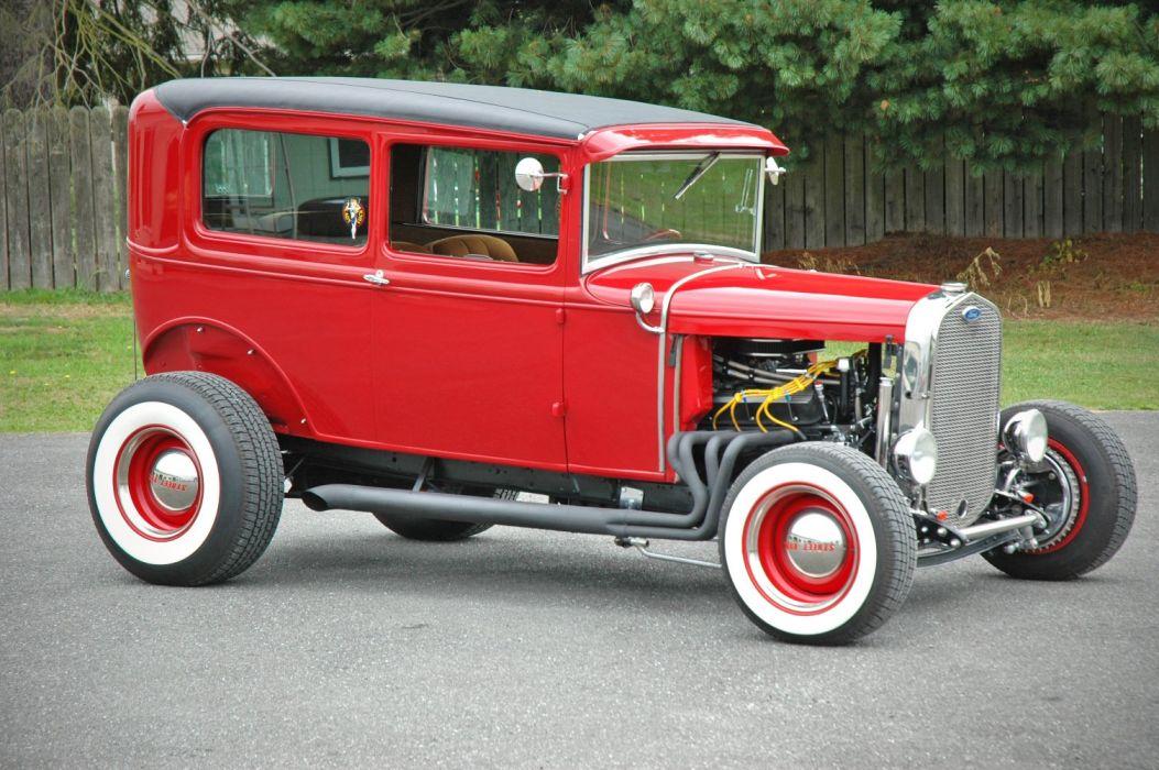 1931 Ford ModelA Tudor Sedan Streetrod Street Rod Hotrod Hot USA 1500x1000-07 wallpaper