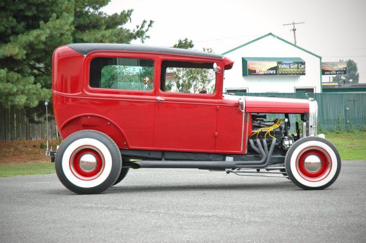 1931 Ford ModelA Tudor Sedan Streetrod Street Rod Hotrod Hot USA 1500x1000-06 wallpaper