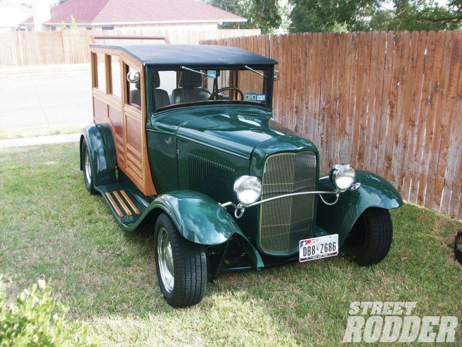 1931 Ford ModelA Woodie Streetrod Street Rod Hot USA 1600x1200-01 wallpaper