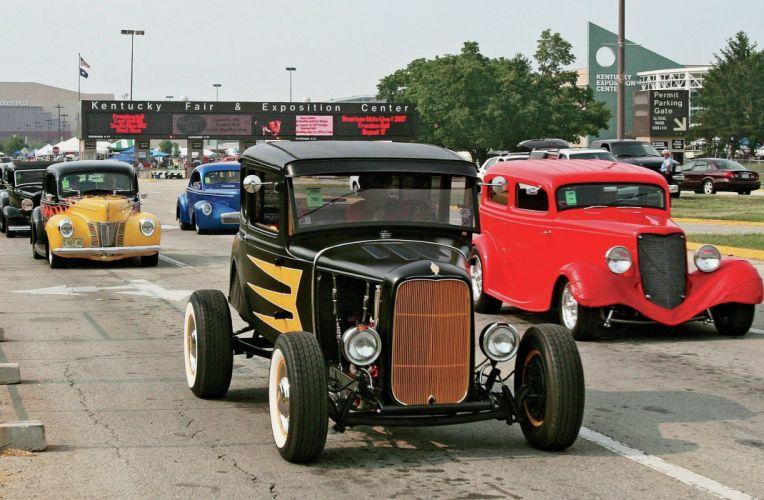 1930 Ford ModelA Coupe Five Window custom Streetrod Street Rod Hot Hotrod USA 2048x1340-01 wallpaper