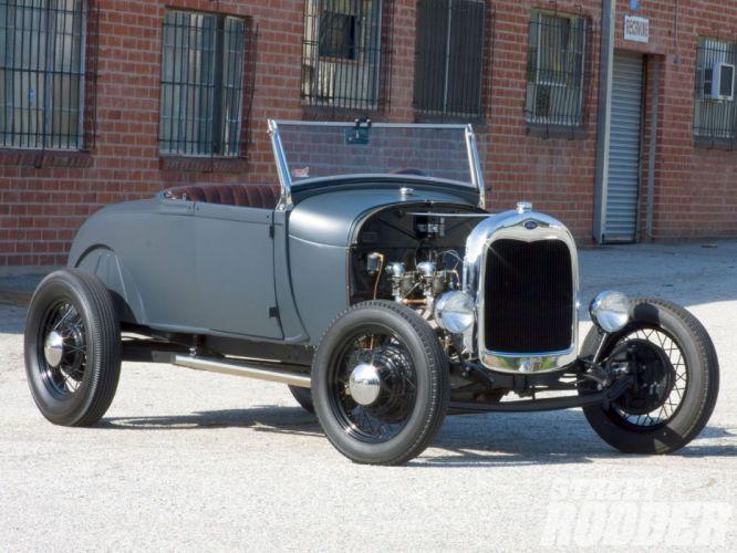 1930 Ford ModelA Roadster Hotrod Hot rod Hiboy USA 1600x1200-01 wallpaper