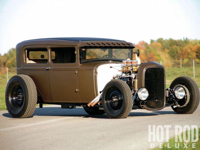 1930 Ford ModelA Sedan Hotrod Hot Rod Streetrod Street USA 1600x1200-03 wallpaper