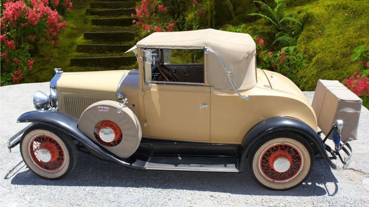 1930 Pontiac Cabriolet Classic USA 1600x900-04 wallpaper