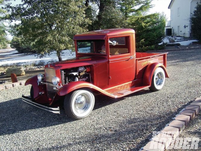 1931 Chevrolet Pickup Streetrod Street Rod Hotrod Hot USA 1600x1200-01 wallpaper