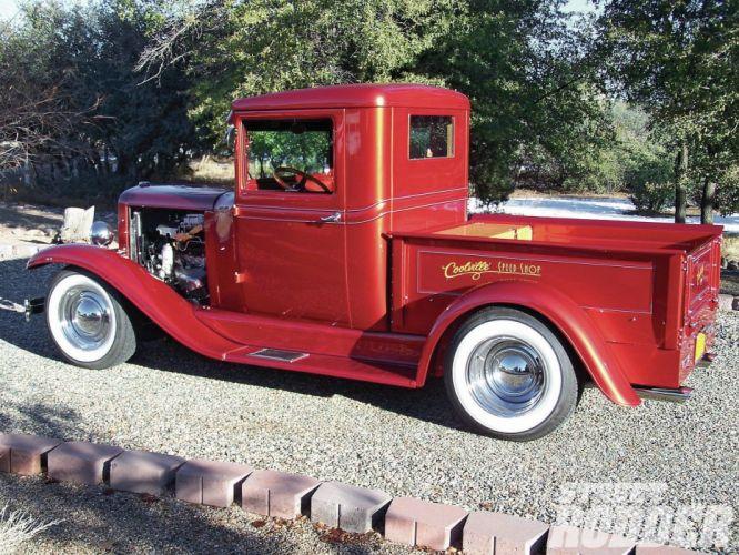 1931 Chevrolet Pickup Streetrod Street Rod Hotrod Hot USA 1600x1200-02 wallpaper