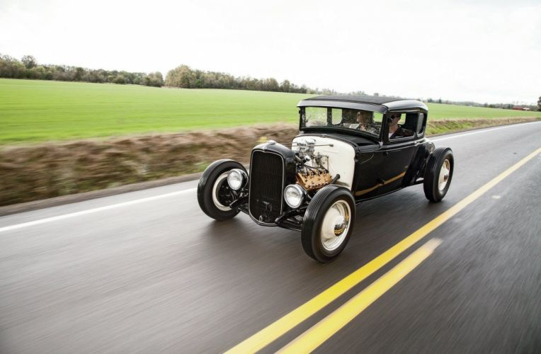1931 Ford ModelA Coupe Five Window Streetrod Street Rod Hotrod Hot USA 1600x1200-013 wallpaper