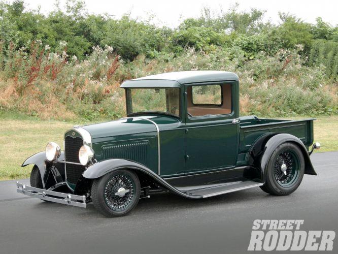 1931 Ford ModelA Pickup Streetrod Street Rod Hot USA 1600x1200-01 wallpaper