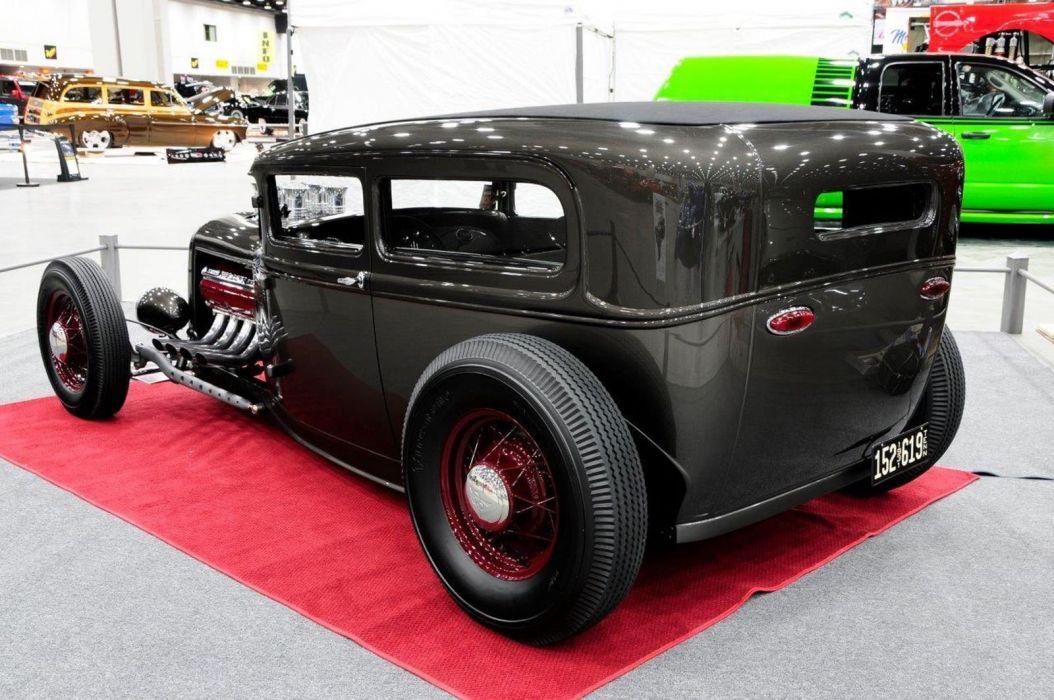 1931 Ford ModelA Tudor Sedan Streetrod Street Rod Hot USA 1600x1063-02 wallpaper