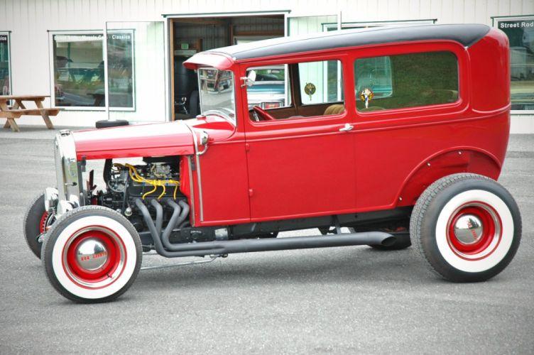 1931 Ford ModelA Tudor Sedan Streetrod Street Rod Hotrod Hot USA 1500x1000-04 wallpaper