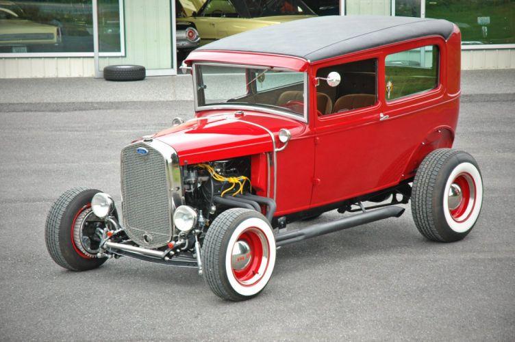 1931 Ford ModelA Tudor Sedan Streetrod Street Rod Hotrod Hot USA 1500x1000-02 wallpaper