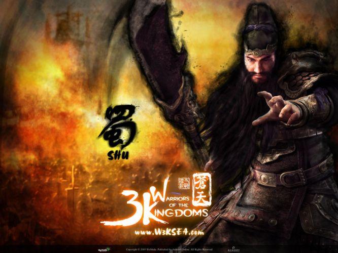 THREE KINGDOMS Online asian fantasy mmo rpg samurai action fighting 1tko strategy Chinese warrior poster wallpaper