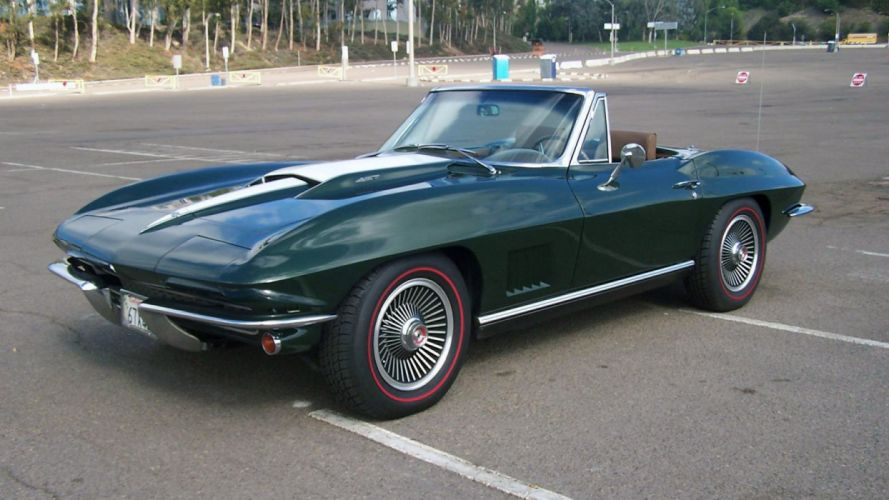 1967 Chevrolet Corvette Convertible Stig Ray 427 Muscle Classic USA 1600x900-39 wallpaper