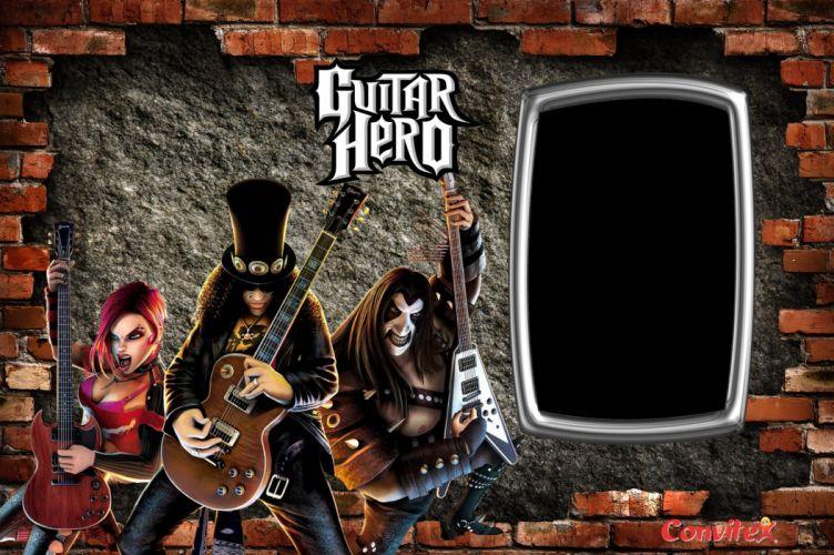 GUITAR HERO music guitars heavy metal rock hard 1ghero rhythm guitarhero slash guns roses wallpaper