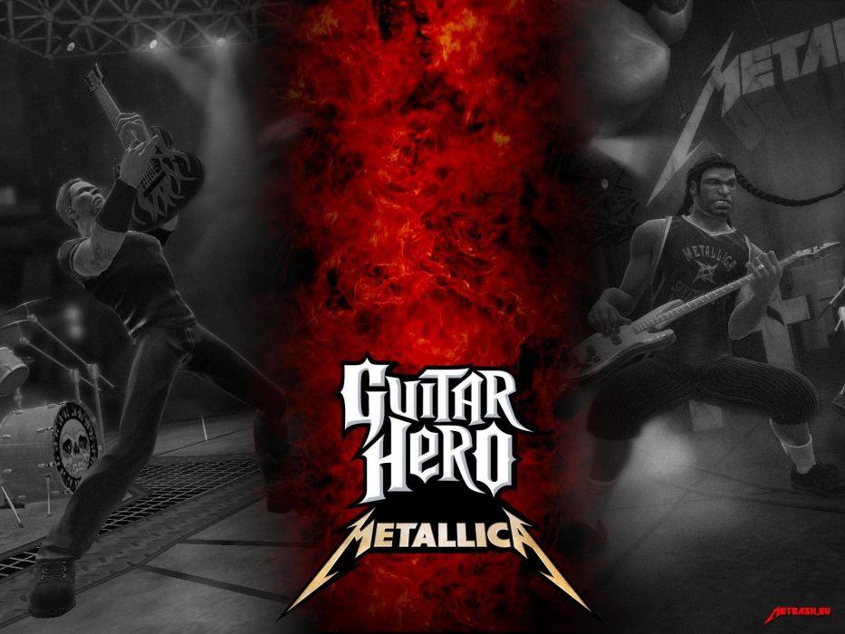 GUITAR HERO music guitars heavy metal rock hard 1ghero rhythm guitarhero poster metallica wallpaper