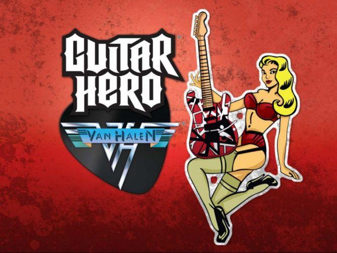 GUITAR HERO music guitars heavy metal rock hard 1ghero rhythm guitarhero sexy babe girls girl wallpaper