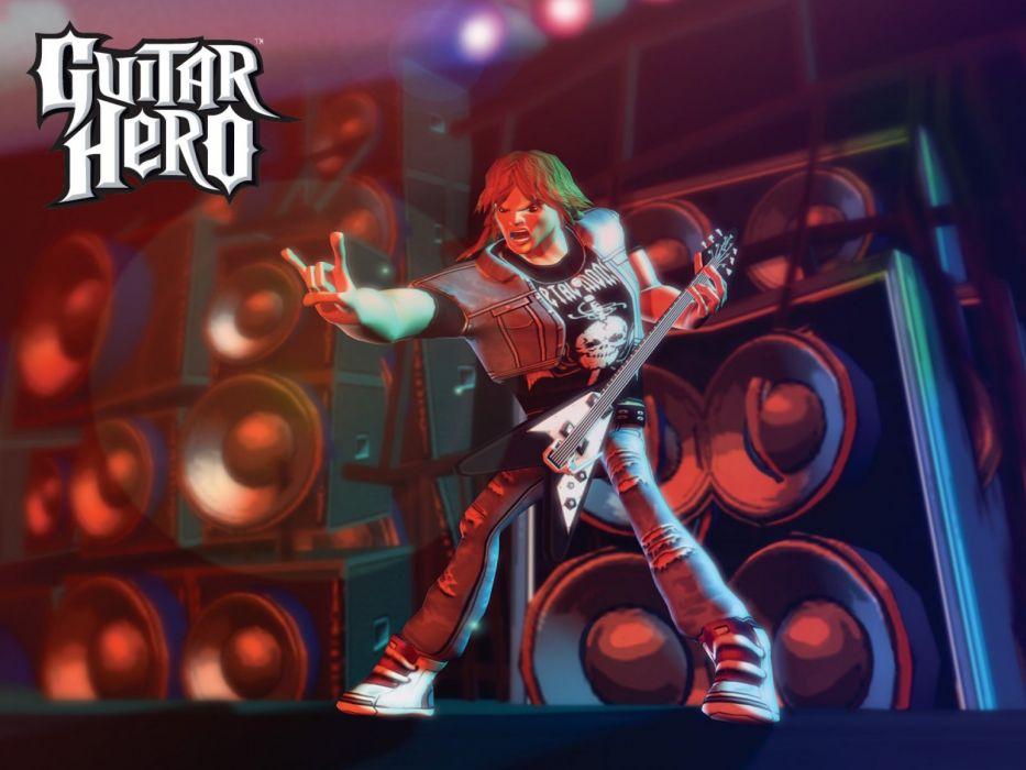 GUITAR HERO music guitars heavy metal rock hard 1ghero rhythm guitarhero poster wallpaper