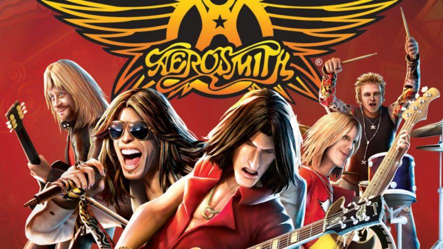 GUITAR HERO music guitars heavy metal rock hard 1ghero rhythm guitarhero poster aerosmith wallpaper