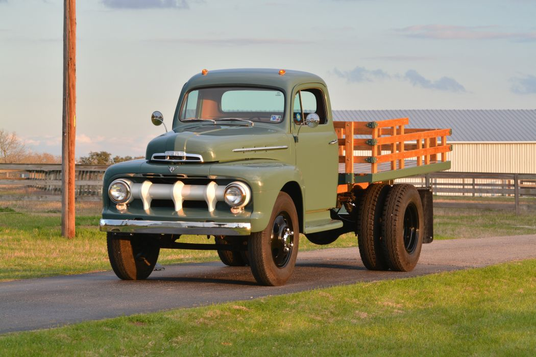 1951 Ford Stake Bed Pickup Photo by John Hollansworth Jr Courtesy of Mecum Auctions wallpaper