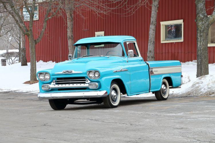 1958 Chevrolet Cameo Pickup Classic Old Retro USA 4096x2731-01 wallpaper