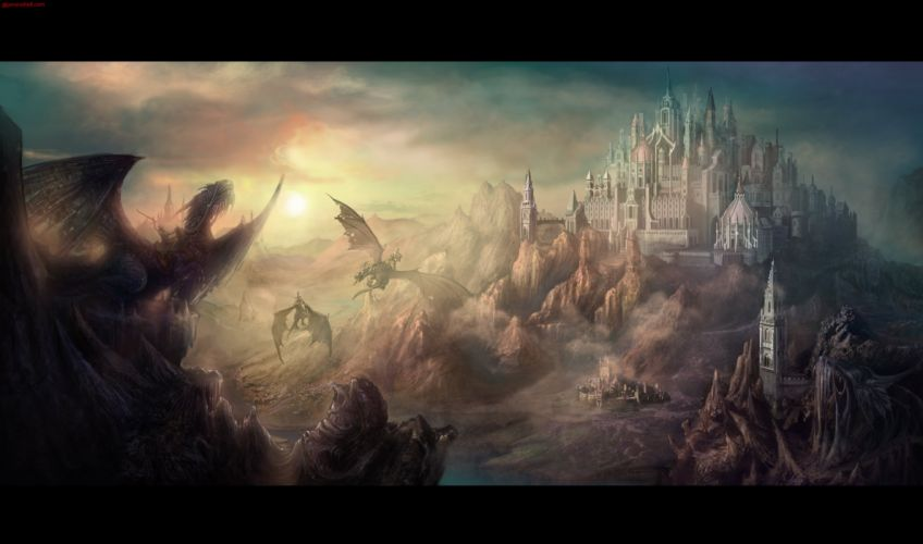 dragon warrior fantasy wallpaper