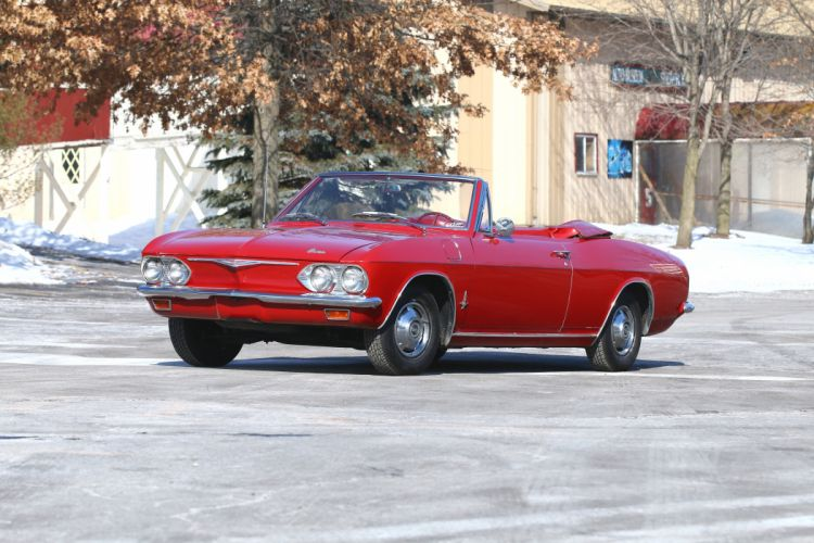 1965 Chevrolet Corvair Monza Convertible Classic Old Retro USA 5120x3413-01 wallpaper