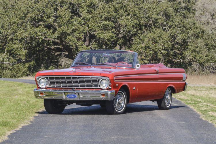 1964 Ford Falcon Futura Convertible Classic Old Retro USA 5120x3431-01 wallpaper