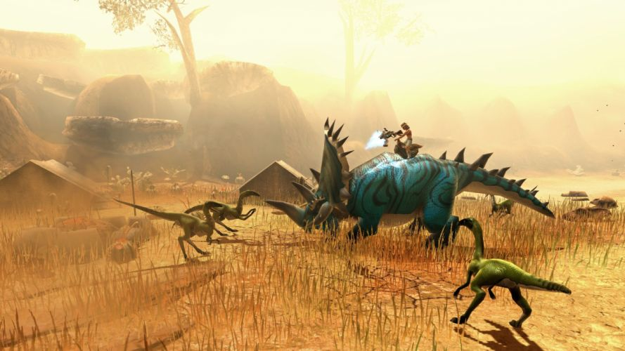 DINO STORM dinosaur fantasy mmo online monster creature 1dinos action adventure cowboty western shooter wallpaper