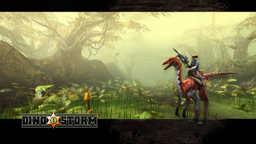 DINO STORM dinosaur fantasy mmo online monster creature 1dinos action adventure cowboty western shooter poster wallpaper