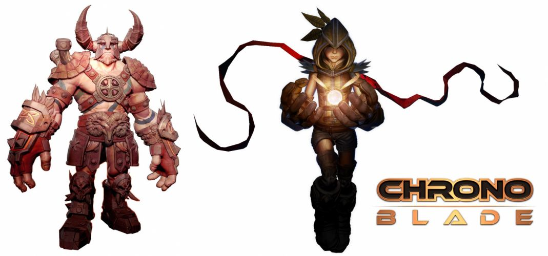 CHRONOBLADE fantasy mmo rpg action fighting scrolling dungeon warrior hero heroes steampunk poster wallpaper